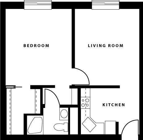 1 bedroom small
